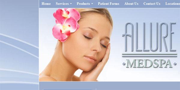 web site design AllureMedspas.com