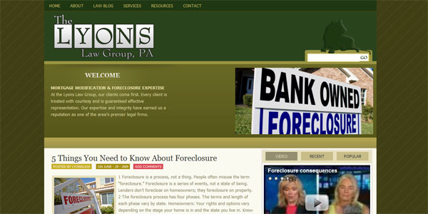 web site design ForeclosureDefenseAtty.com