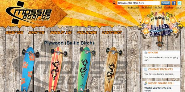 web site design MossieBoards.com