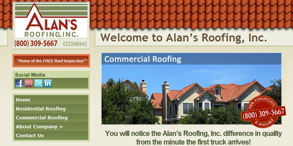 web site design Alan's Roofing, Inc.