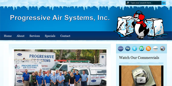 web site design ProgressiveAirSystems.com