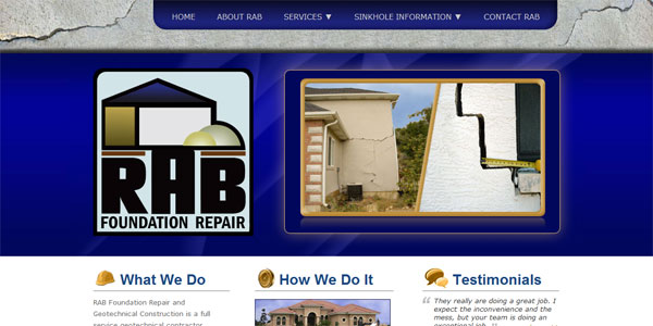 web site design RAB Foundation Repair