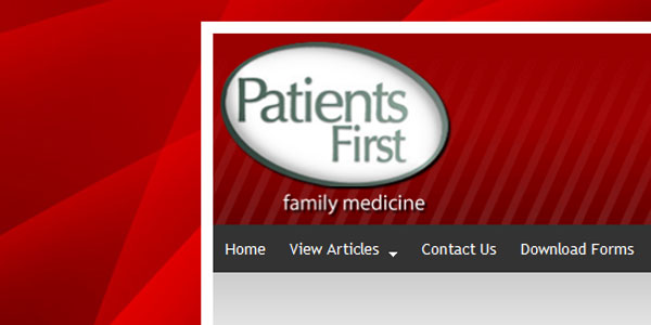 web site design Patients-First.com