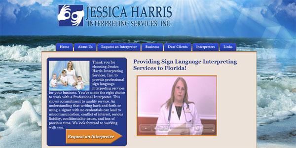 web site design JessicaHarrisInterpretingServices.com