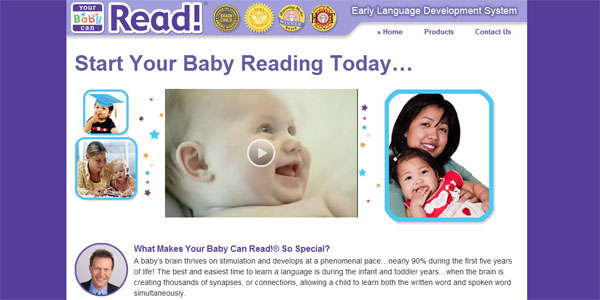 web site design YourBabyCanRead.com.ph